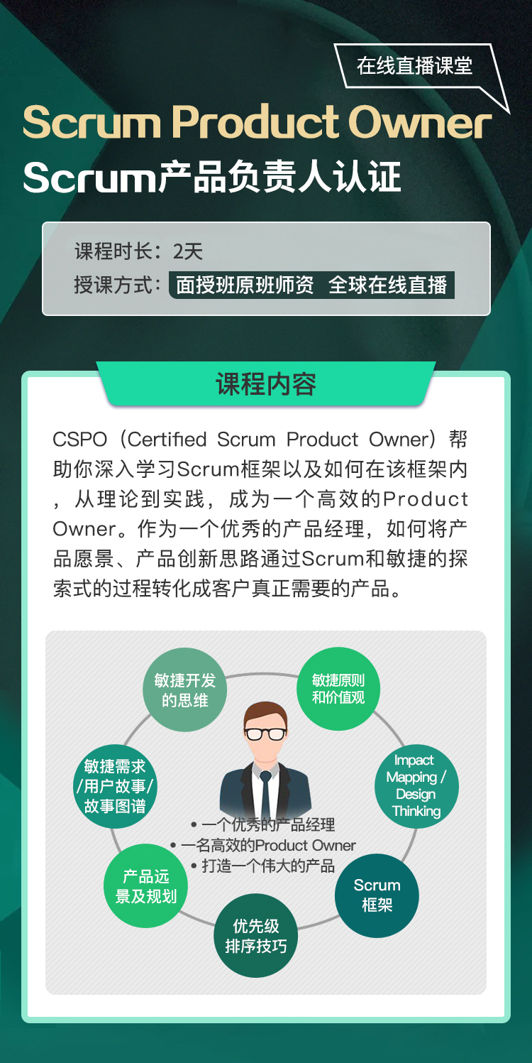 Scrum Product Owner认证  (10/1班)